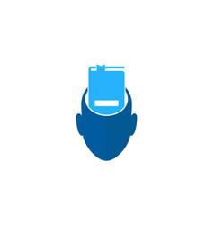 Head book logo icon design vector