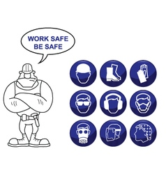 Health and Safety Icons vector image