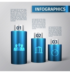 Infographic 3d template vector