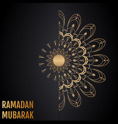 Islamic background ramadan mubarak vector