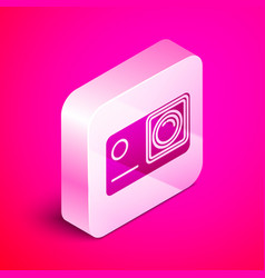 Isometric action extreme camera icon isolated on vector