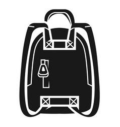 Knapsack icon simple style vector