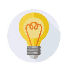 Lamp icon with long shadow for web design vector