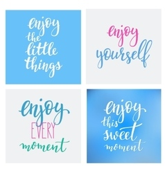 Lettering quotes motivation typography vector