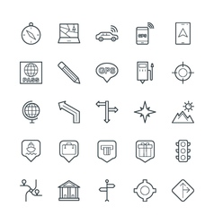 Map and Navigation Cool Icons 2 vector