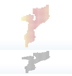 Map of Republic Mozambique with Dot Pattern vector image