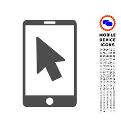 mobile arrow pointer icon with set vector image
