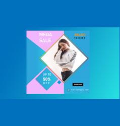 Online fashion design banner templates vector