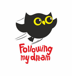 Owl following my dream vector