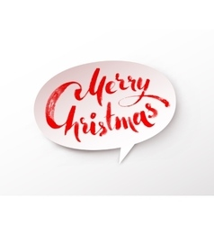 Paper banner with Merry Christmas lettering vector