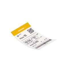 Parking ticket icon vector