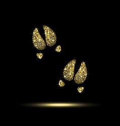 pig trails gold sequins vector image