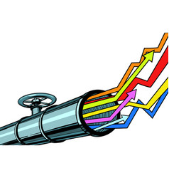 pipe revenue graphs grow up vector image