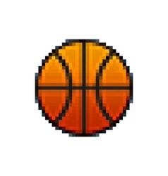 Pixel basketball vector image