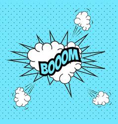 Pop art comic speech bubble boom vector