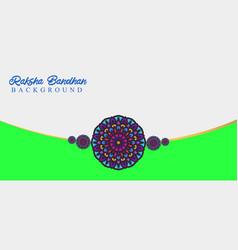 Raksha bandhan celebration background design vector