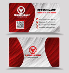 Red business card template psd vector