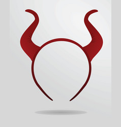 Red horns headband mask vector