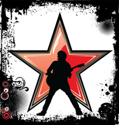 Rock star grunge background vector image