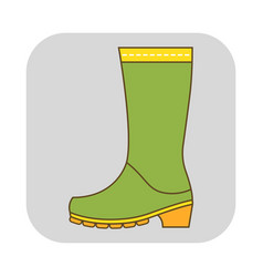 Rubber boots work clothes for construction vector