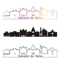 salvador de bahia v2 skyline linear style vector image