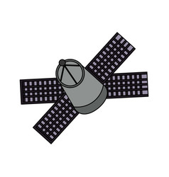 satellite spaceship technology vector image