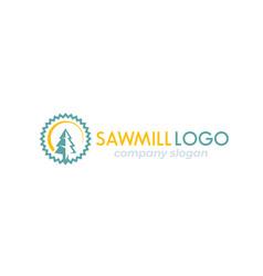 sawmill logo mark vector image