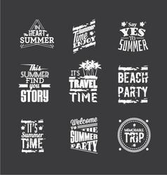Set of Summer Holidays vector image