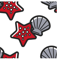 shellfish and starfish cuban sea bottom seamless vector image