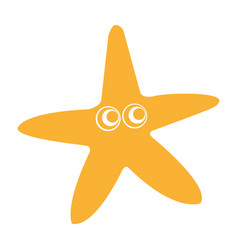 starfish comic character icon vector image