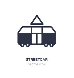 Streetcar icon on white background simple element vector