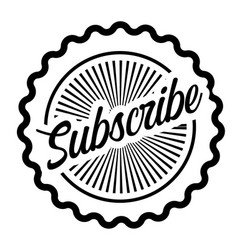 Subscribe stamp on white vector