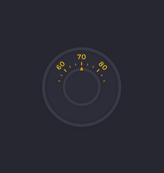 Thermostat dark version vector