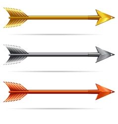 Three Arrows - Gold Silver and Bronze vector