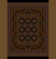Vintage carpet at brown shades vector