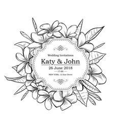 vintage elegant wedding invitation vector image