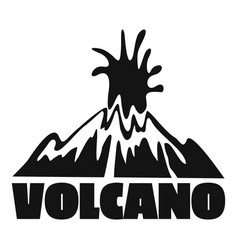 volcano explosion logo simple style vector image