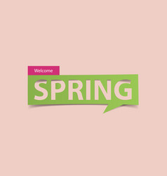 welcome spring season banner isolated vector image