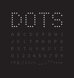 white square font on black background abstract vector image