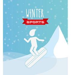 winter sports design vector image