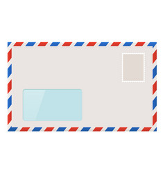 blank envelope with address window vector image