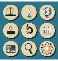 Chemistry flat icons vector image vector image