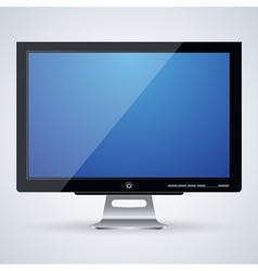 Flat monitor vector image