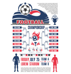 football championship schedule banner template vector image