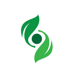 abstract leaf spin eco logo image vector image vector image