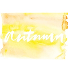 Autumn Abstract background Watercolor vector image vector image