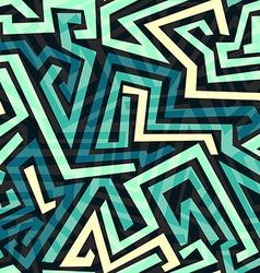 blue maze seamless pattern vector image