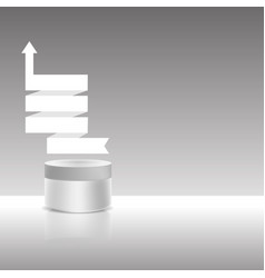 cream jar with ribbon vector image