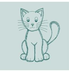 Cute Pseudo-pencil Drawing Cat vector image
