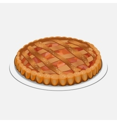Apple strudel pie-like dish made with dough vector image vector image
